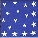 Entertaining with Caspari Stars and Stripes Paper Luncheon Napkins, Pack of 20