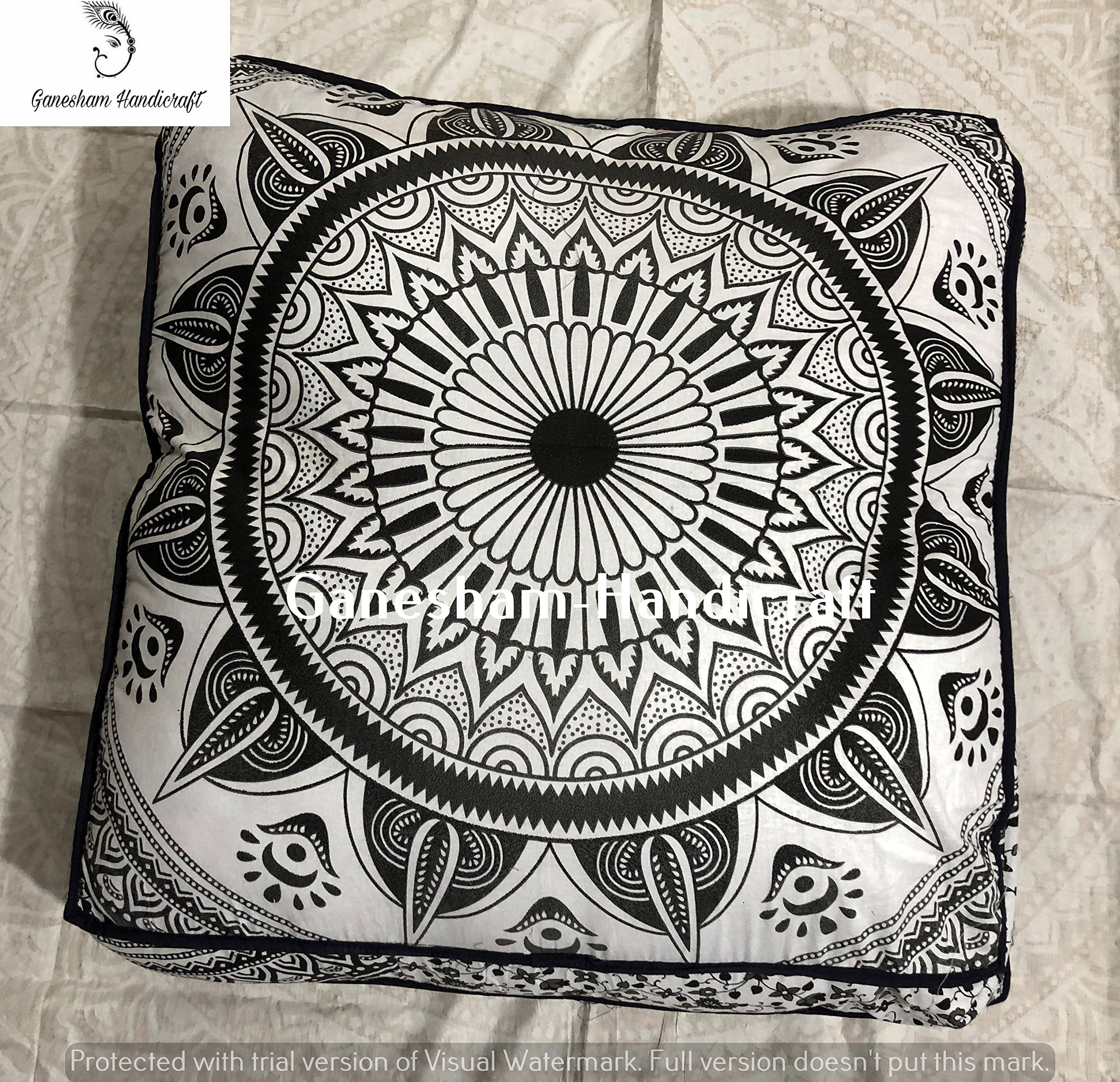 GANESHAM Indian mandala tapestry, boho decor, floor pillows & cushionpouf ottoman, boho pillows made by hippie mandala tapestry dog or cat bed decorative throw pillow insert