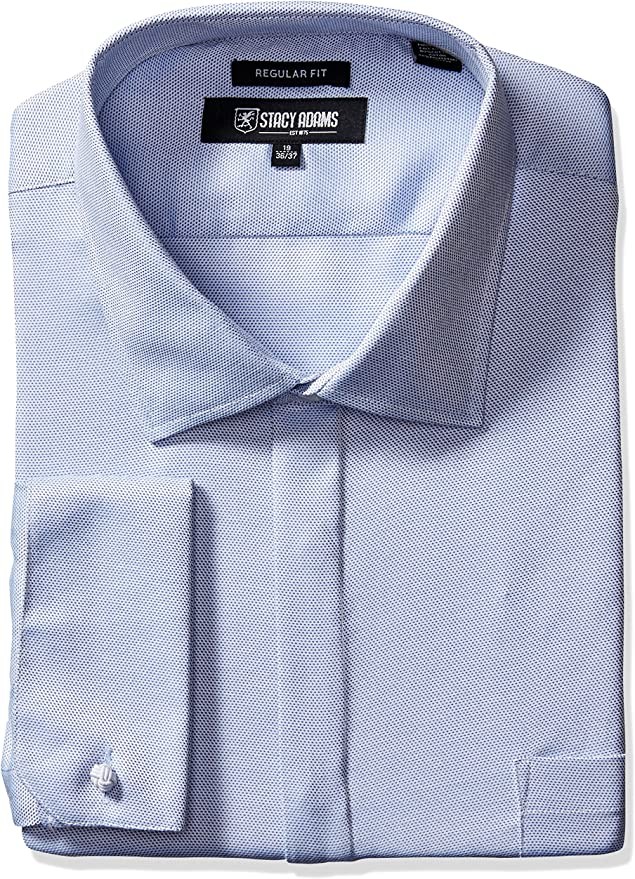 STACY ADAMS Hombre 39003BT Cuello tipo italiano] Camisa de ...