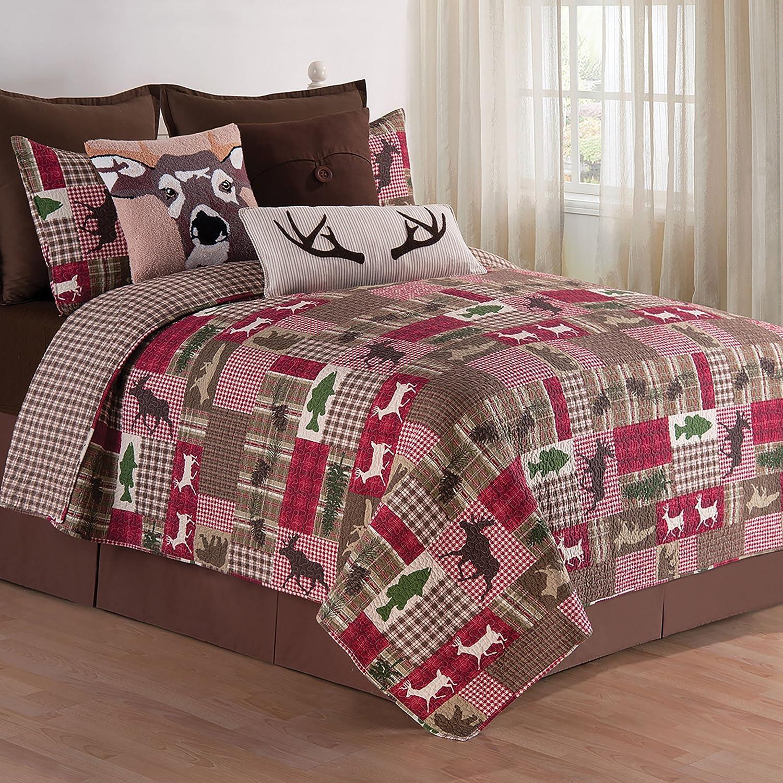 C& F Home Happy Camper Quilt Set, Full/Queen, Brown, 3 Piece C&F Enterprises 82180.3FQSET