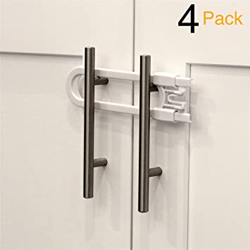 Amazon Com Child Safety Sliding Cabinet Locks 4 Pack Baby