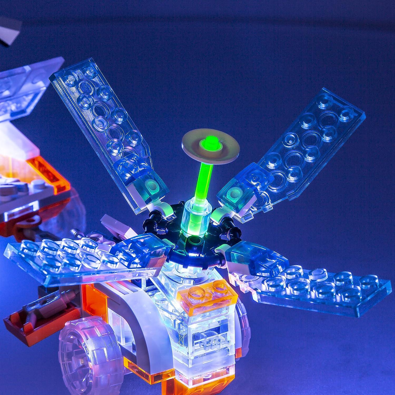 Laser Pegs Astronaut Transporter Light-Up Building Block Playset