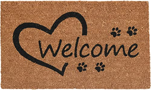 Calloway Mills 103352436 Open Heart Paws Doormat, 24 x 36