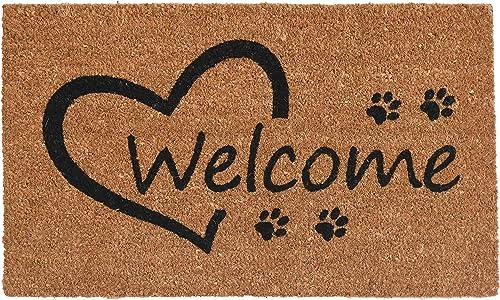 Calloway Mills 103352436 Open Heart Paws Doormat