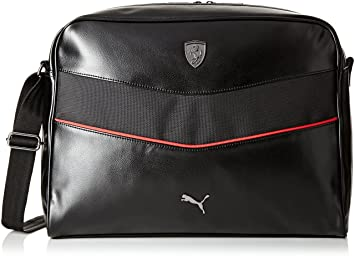 ec4573634ee Image Unavailable. Image not available for. Colour  Puma Ferrari Synthetic  14 Ltrs Black Messenger Bag ...