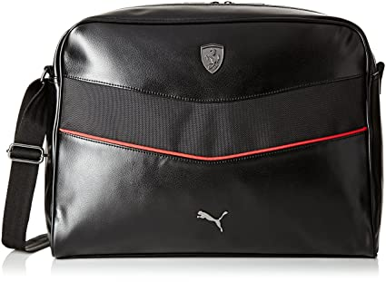08e4b6a854ed Puma Ferrari Synthetic 14 Ltrs Black Messenger Bag (7394201)  Amazon ...
