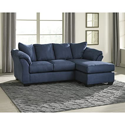 Amazon.com: Flash Furniture FSD-1109SOFCH-BLU-GG Blue Microfiber ...