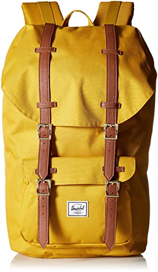 39c7610d262 Herschel Classic Little America Backpack 15  yellow  Amazon.co.uk ...