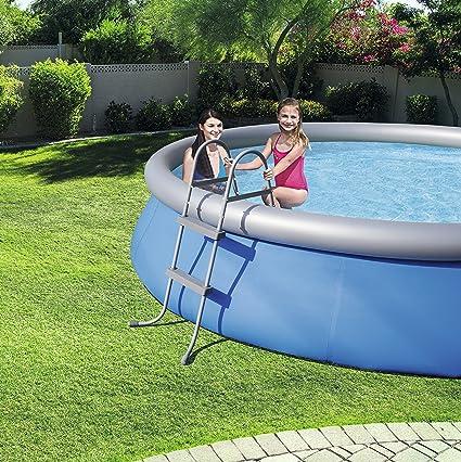 Bestway 58430 - Escalera para piscinas de 84 cm, sin plataforma: Amazon.es: Jardín