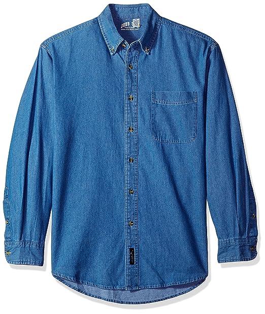 ed6dda0c Men's Long Sleeve Denim Shirts in Sizes XS-6XL