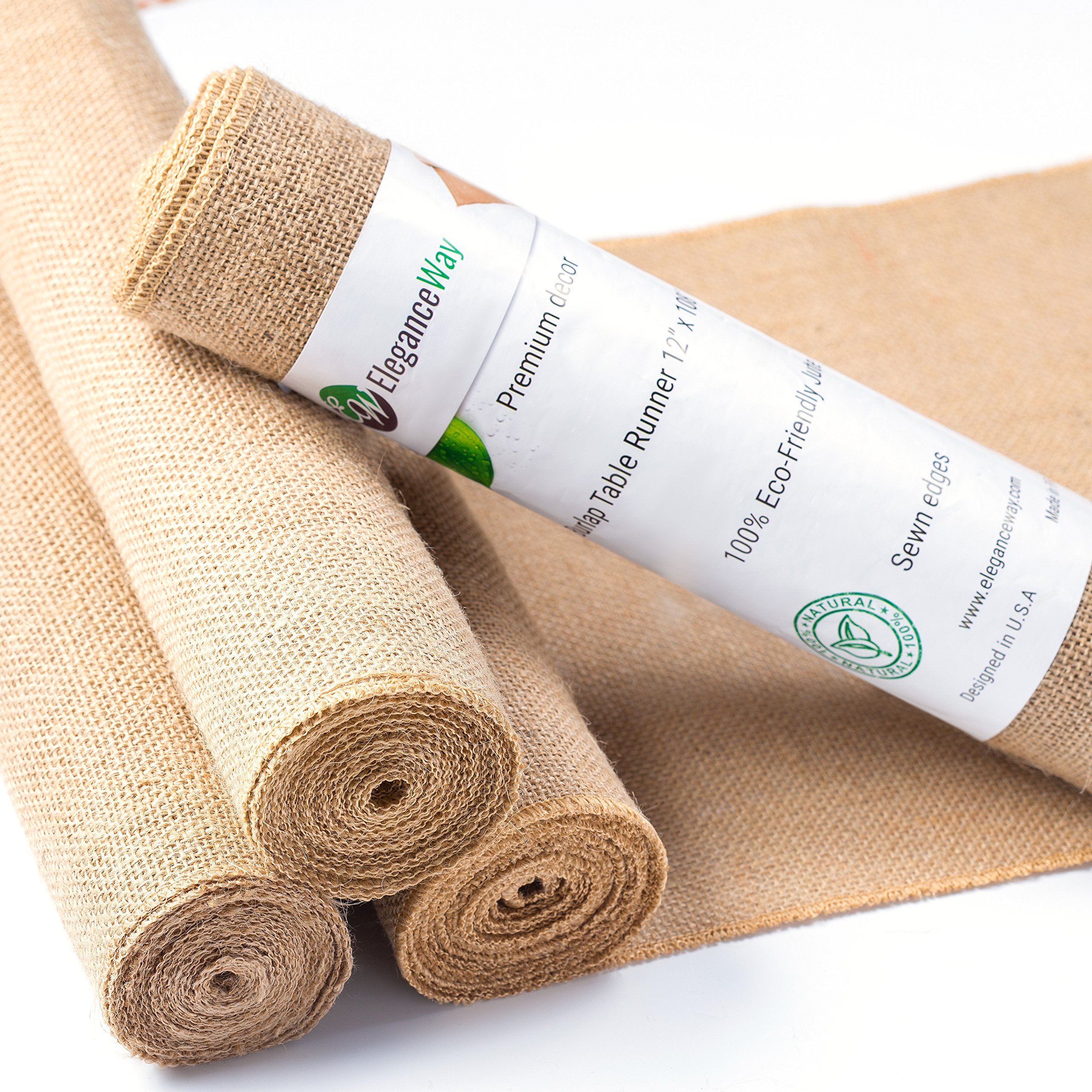 Burlap Table Runner 108 Inches Long   Rustic Wedding Table Runner  Decoration   Dining Table Runner Roll   Kitchen Table Runner   Thanksgiving  Easter Baby ...