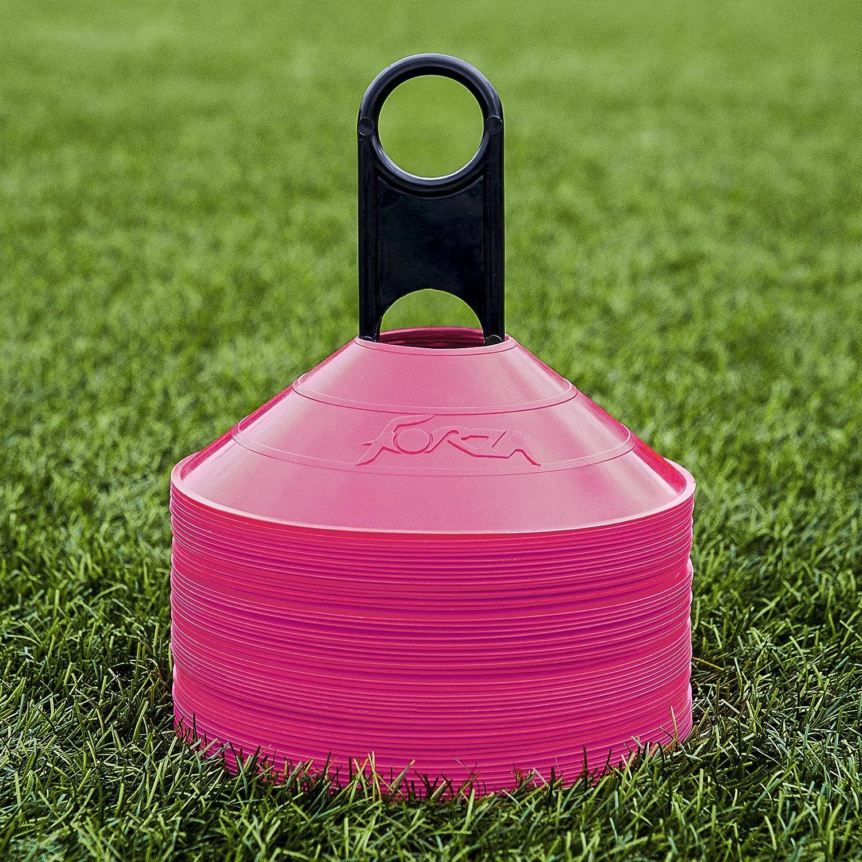 (ネットワールドスポーツ) NET WORLD SPORTS Forza マーカーコーン&スタンド 各種色 最高品質 50個 B079Q357KM ピンク