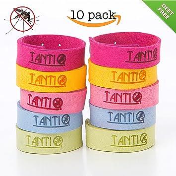Mosquito Repellent Bracelet (10 Pack) By TantiQ U2014 Safe, Natural Pest Control