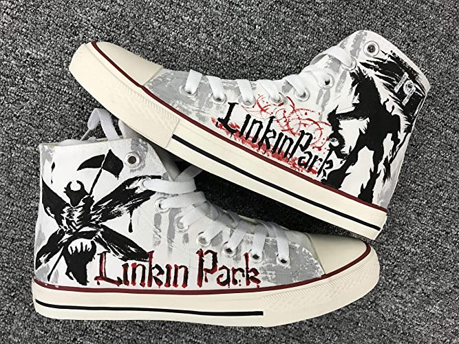 Amazon.com  Linkin Park Men Women Sneakers Hand Painted Shoes Custom Sneakers  Free Shipping  Handmade 2362f64a8bab