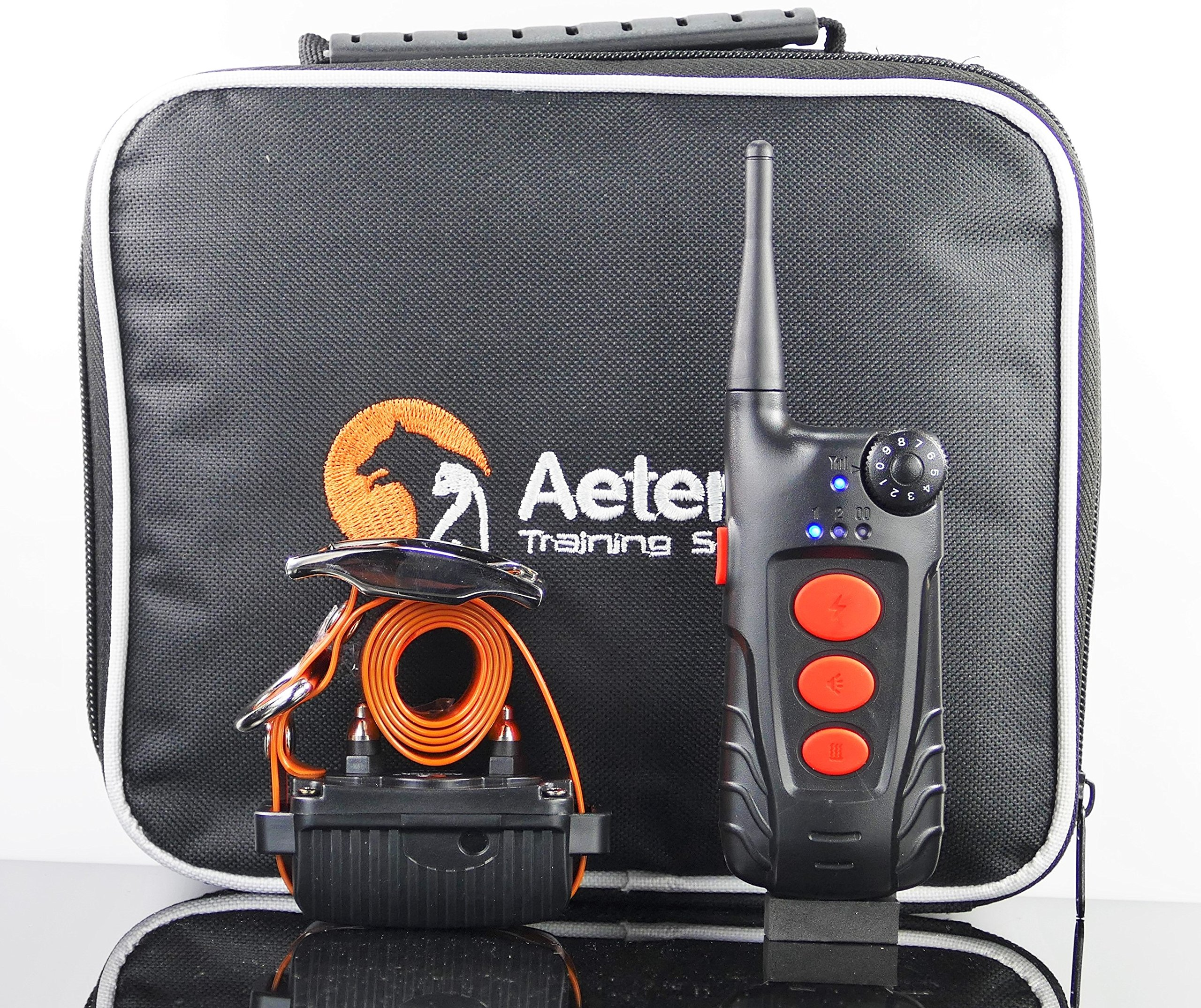 Aetertek 600 YARD REMOTE DOG TRAINER WITH WATERPROOF RECHARGEABLE DOG TRAINING SHOCK COLLAR TRAINER WITH AUTO ANTI-BARK (AT-918C-1 DOG SET) by Aetertek
