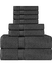 Juego de Toallas Premium de 8 Piezas; 2 Toallas de baño, 2 Toallas de Mano y 4 toallitas - Algodón - Calidad del Hotel, súper Suave y Altamente Absorbente por Utopia Towel