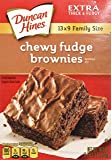 Duncan Hines Chewy Fudge Brownies 18.3oz Family Size - 2 Boxes