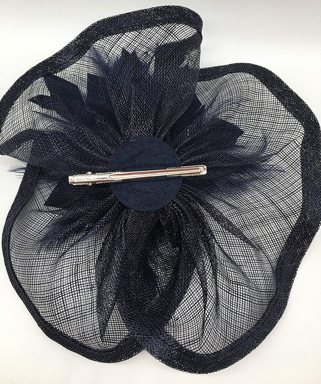 Feather Fascinators Hair Clip Pillbox Hat Derby Party Headdress Bride Headwear