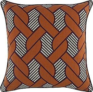 Thomas Paul Knot Pillow, 18-Inch, Tangerine