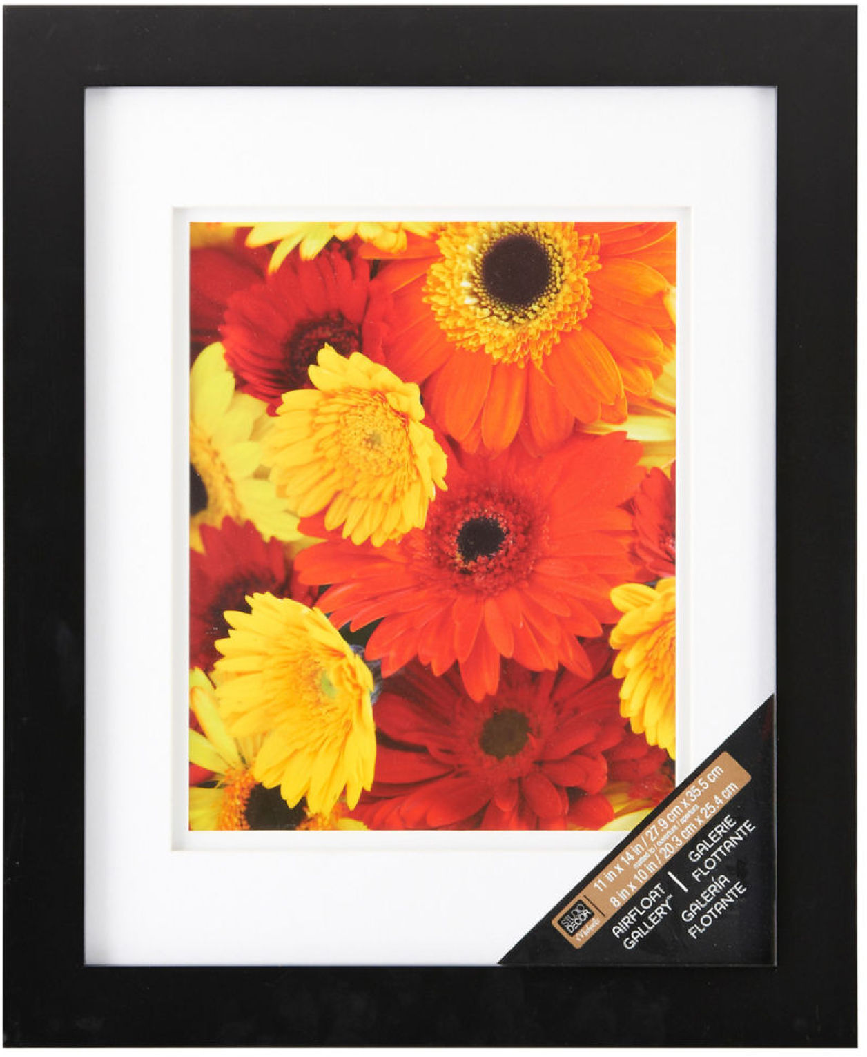 Studio Décor® Airfloat Gallery™ Wall Frame with Double White Mat, Black