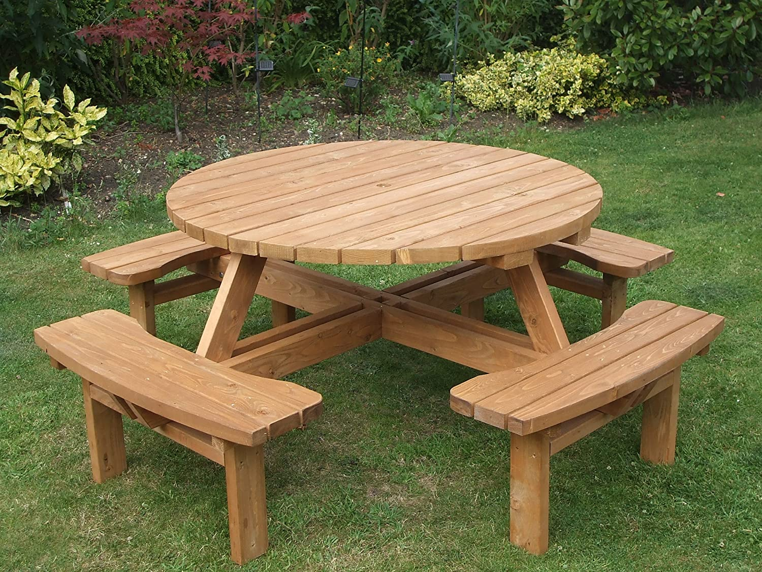 : wooden garden bench and table set - pezcame.com