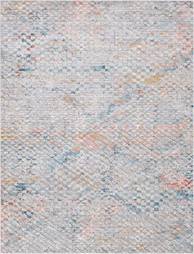 Rugs.com Leipzig Collection Area Rug 9X12 Multi Low-Pile Rug Perfect for Living Rooms, Large Dining Rooms, Open Floorplans
