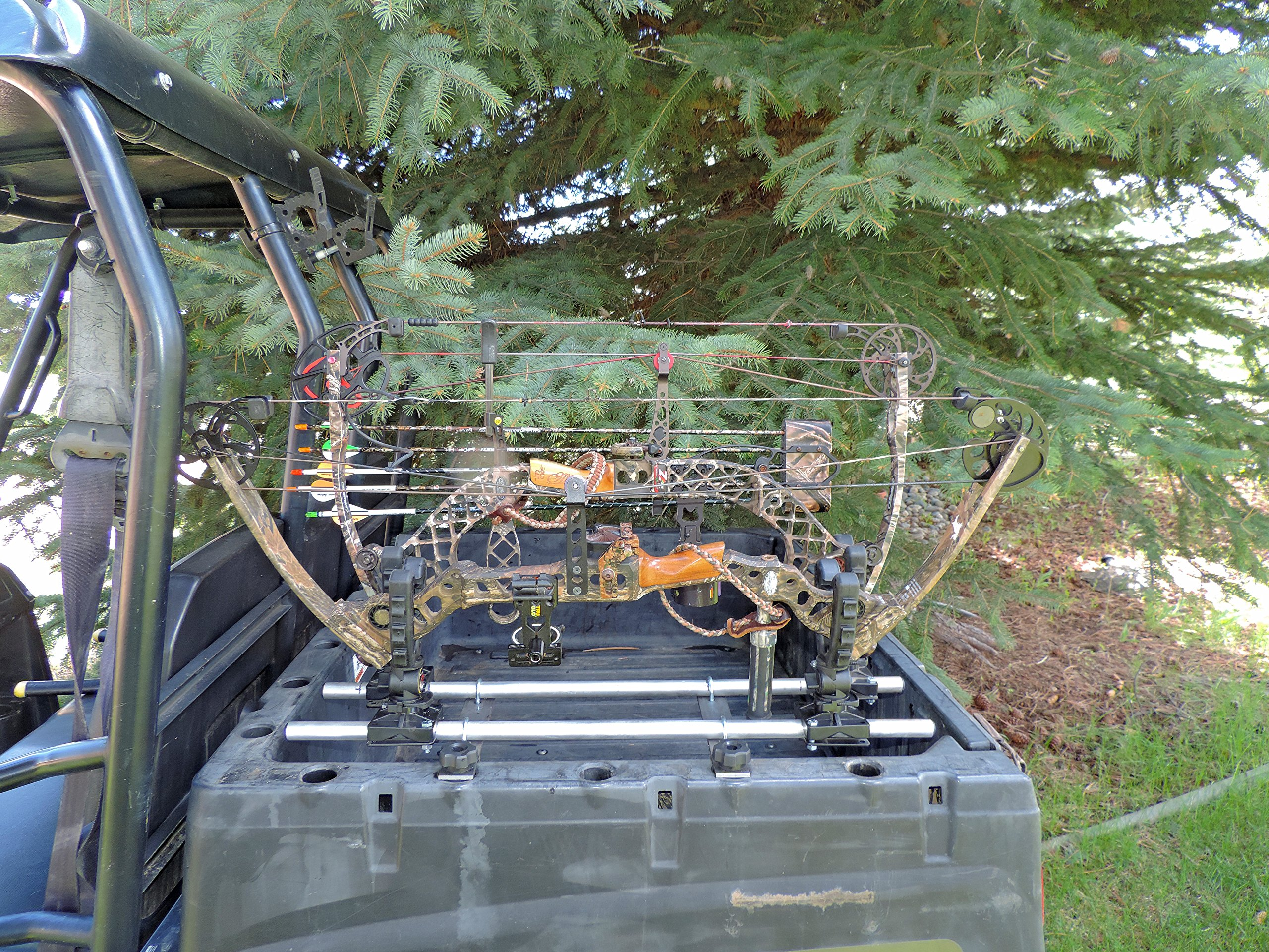 Polaris Ranger and General Single Bow Carrier Hornet Outdoors Made in USA Steel Powder Coated Includes Anchors R-3028 S by Hornet Outdoors