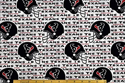1d7606628 Amazon.com  Fabric Traditions NFL Cotton Broadcloth Houston Texans ...
