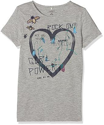 07f7b297 Name It Girl's Nkfhearty Ss Top Box T-Shirt, (Dark Grey Melange), 128:  Amazon.co.uk: Clothing