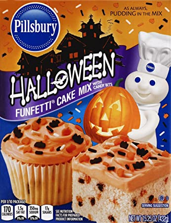 pillsbury halloween funfetti cake mix with candy bits 12 count