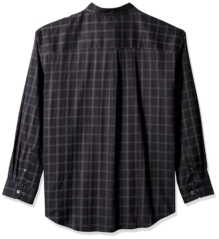 Van Heusen Mens Big and Tall Flex Long Sleeve Button Down Stretch Windowpane Shirt