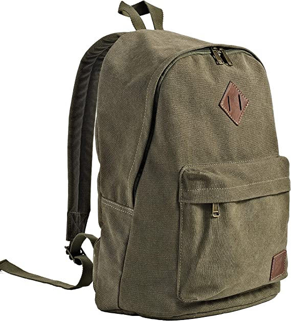 Ladies Mens Boys Large Canvas Stars Backpack Rucksack Satchel Travel School Bag