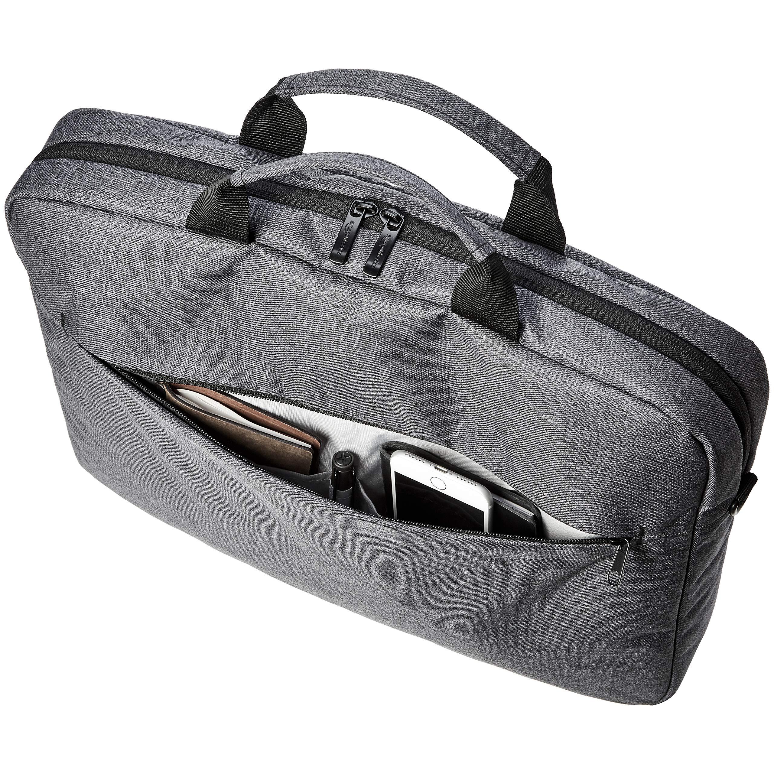 AmazonBasics Urban Laptop and Tablet Case Bag, 17 Inch, Grey by AmazonBasics (Image #5)