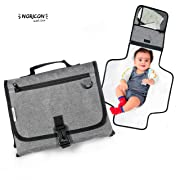 Portable Baby Diaper Changing Pad Kit - Lightweight Travel ChangingStation - Comfortable, Detachable and Wipeable Mat - Mesh and Zipper Pockets - Easy Foldable into a Clutch - Great for everyday use.