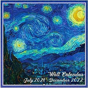 2021-2022 Wall Calendar - 18 Month Monthly Wall Calendar, Jul. 2021 - Dec. 2022, 12