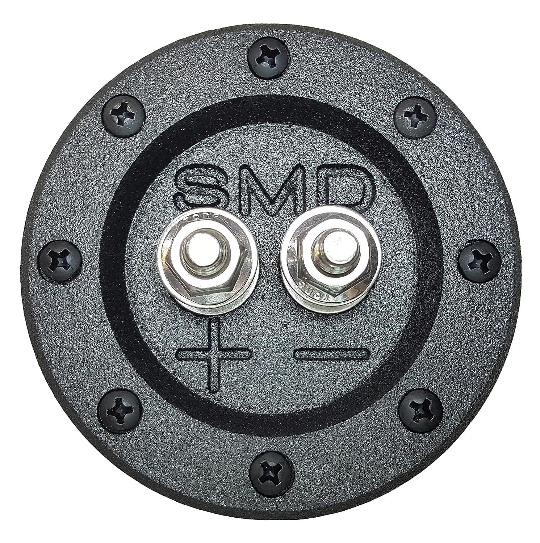 SMD 1 Channel Heavy Duty Speaker Terminal (Stainless) (3/4' PVC Black) (Round) SteveMeadeDesigns