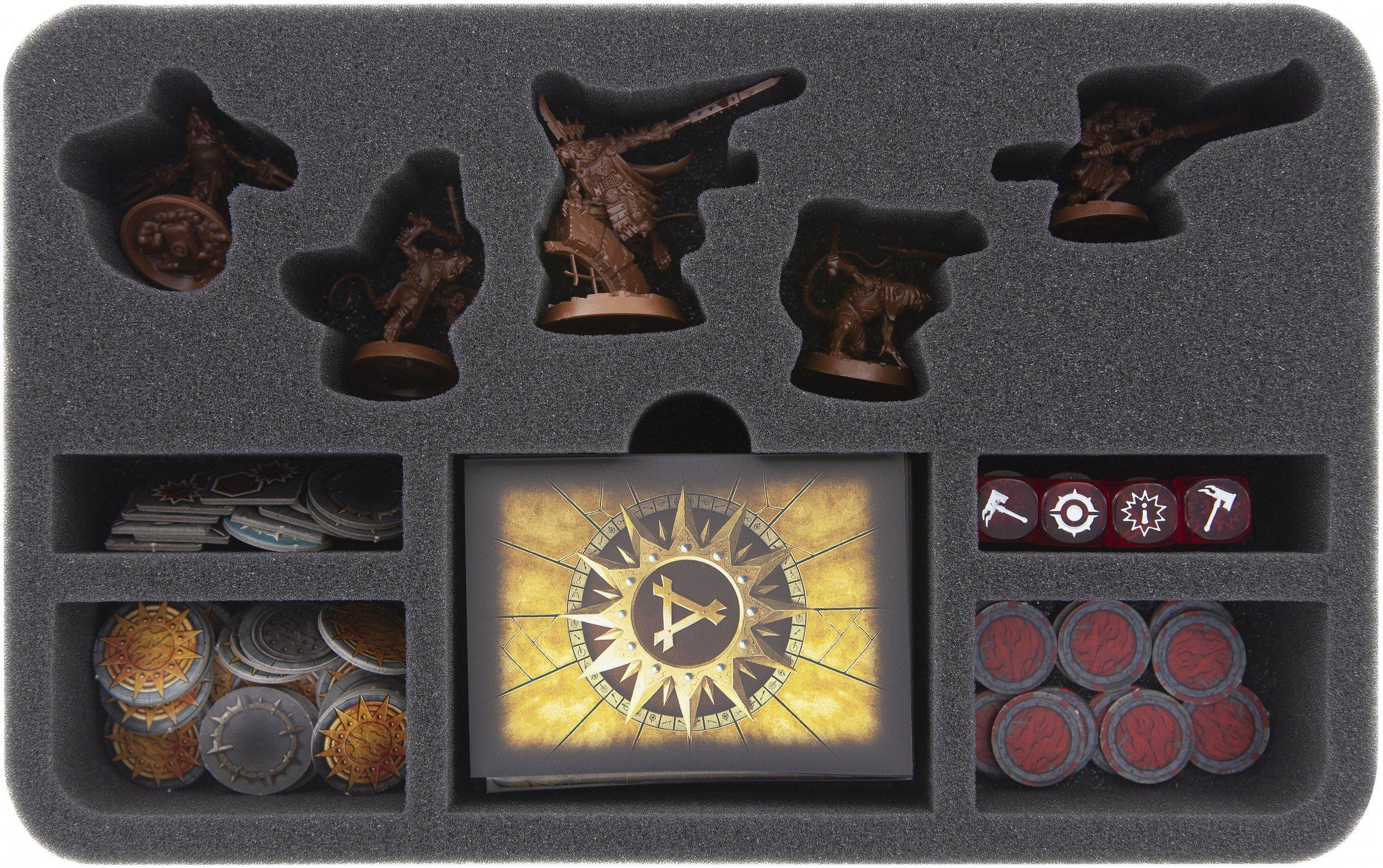 Feldherr HSMEBD050BO 50 mm Foam Tray for Warhammer Underworlds Shadespire: Spiteclaw's Swarm