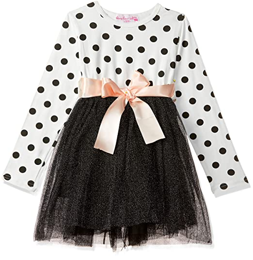 Cherry Sweet Talk Girls Cotton Polka Dot Printed Dress White 3 4