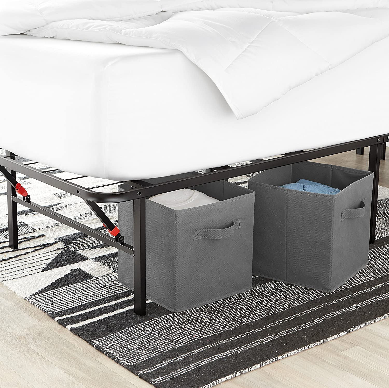AmazonBasics Marco de plataforma para cama, negro, Full: Amazon.com.mx