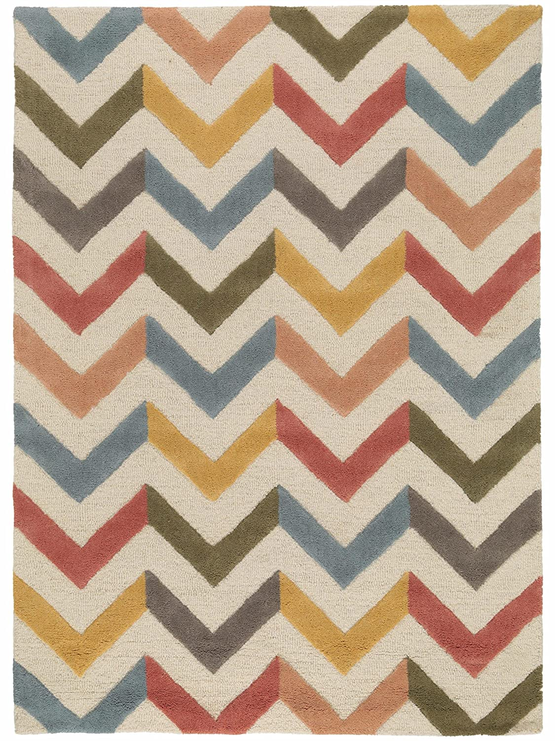 Benuta Wollteppich Windsor, Wolle, Multicolor, 80 x 150.0 x x x 2 cm f220b3