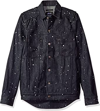 I-N-C Mens Splatter Button Up Shirt