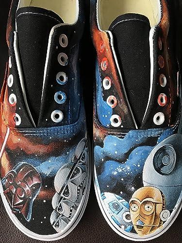 more photos 9b0cb cf596 Star Wars Mens Sneakers Star Wars Women Hand Painted Shoes Star Wars Shoes  Free Shipping  Amazon.ca  Handmade