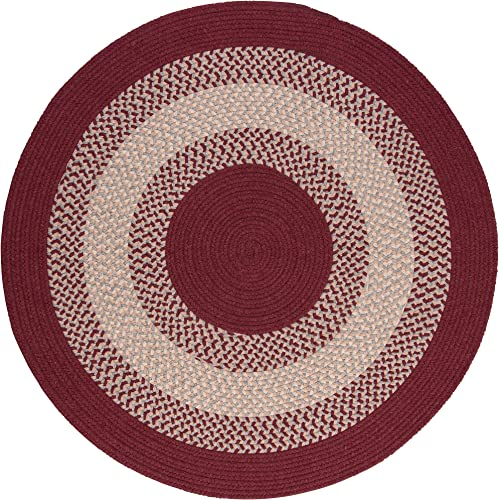 North Ridge Round Rug, 8-Feet, Berry