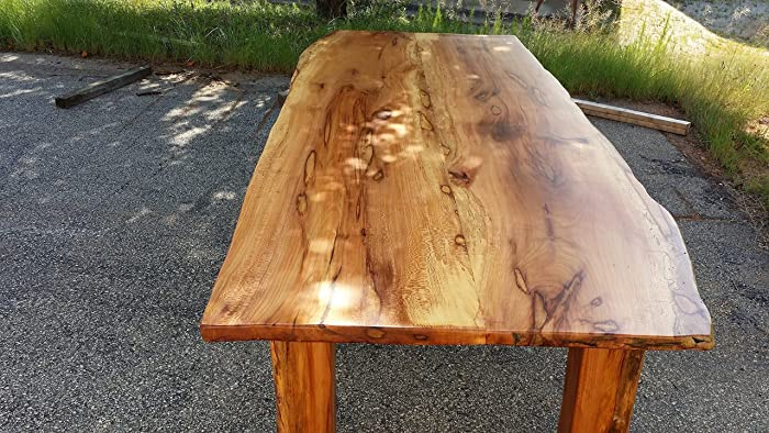 Amazoncom Figured Ambrosia Sycamore 10 ft Dining Table Handmade