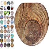 Sanilo Elongated Toilet Seat, Wide Choice of Slow Close Toilet Seats, Molded Wood, Strong Hinges (Rustic)