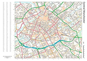 street wall map with index central manchester