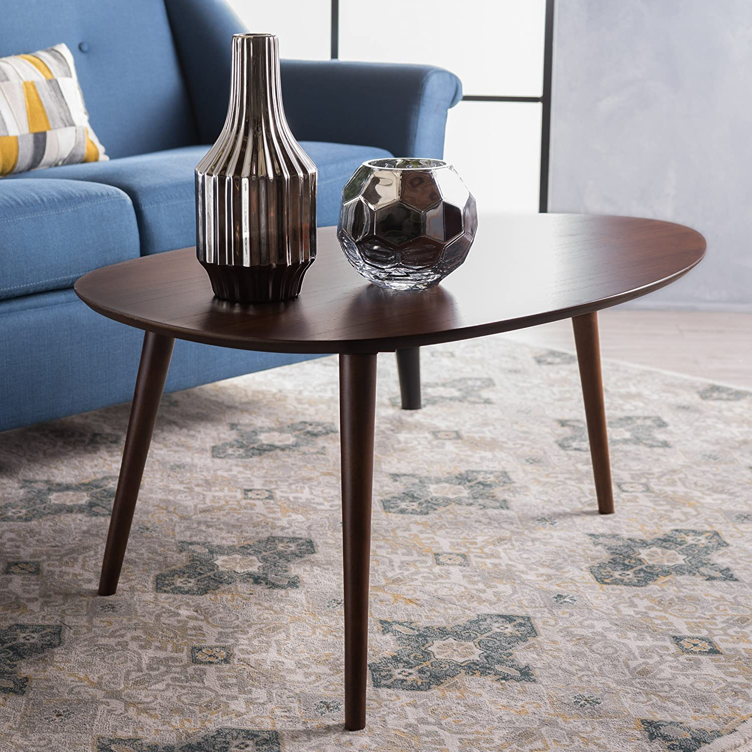 Christopher Knight Home 299909 Caspar Walnut Wood Coffee Table