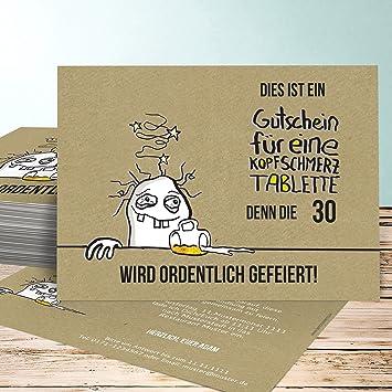 Schön Einladung 30 Geburtstag, Hangover 30 Karten, Horizontal Einfach 148x105  Inkl. Weiße Umschläge,