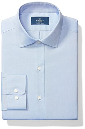 91a9eb52b0 BUTTONED DOWN Men s Classic Fit Spread Collar Solid Non-Iron Dress Shirt (No  Pocket