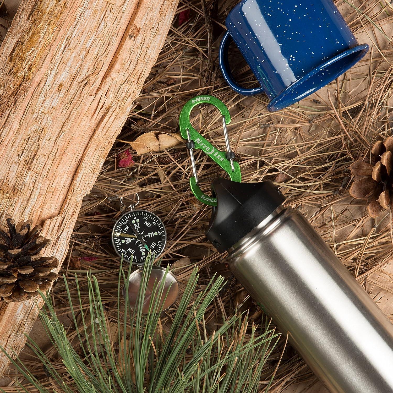 Nite Ize LSB3-01-R6 S-Biner SlideLock Stainless Steel Dual Locking Carabiner Black Size #3
